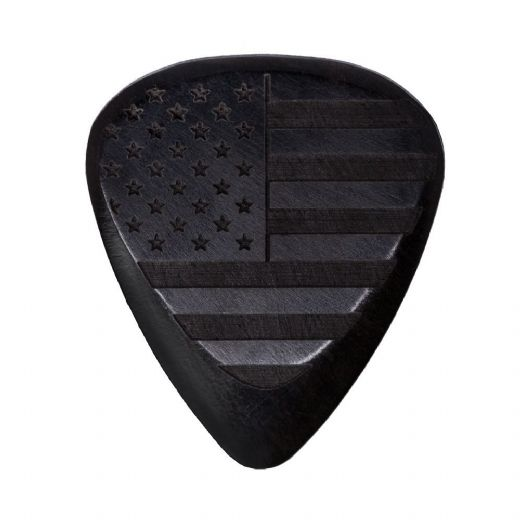 Flag Tones Stars & Stripes African Ebony 1 Guitar Pick